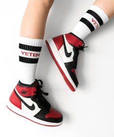 High Top Trainers in Red, Black and White [Tags]
